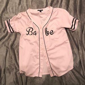 Pink Babe Jersey Large